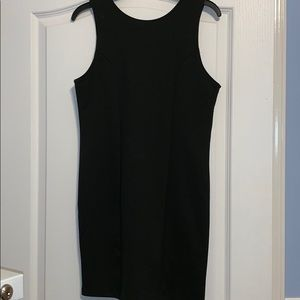 Black dress with jewels on the back